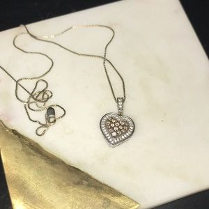 14k White Gold Diamond Heart Necklace Kay Jewelers
